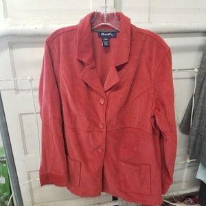 Denim & Co. Burnt Orange Large Corduroy Jacket